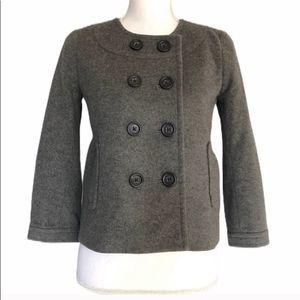 J. Crew gray wool peacoat